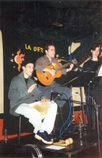 con Gloria y Jiuvel en La Ofrenda, Madrid 2001
